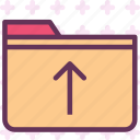 extension, file, folder, folderup, tag icon