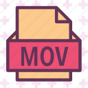 extension, file, folder, mov, tag icon