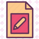 extension, file, folder, pencil, tag icon