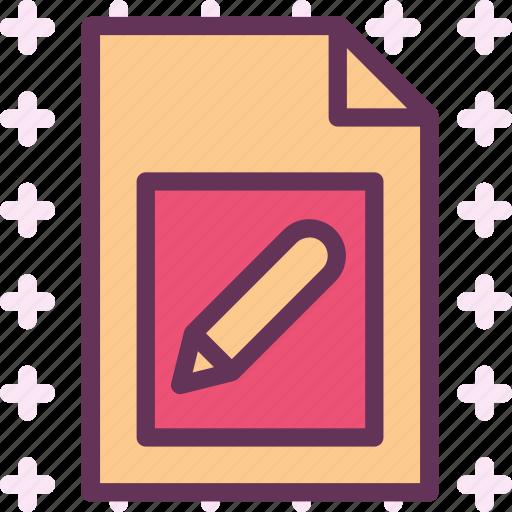 extension, file, folder, pencil, tag icon