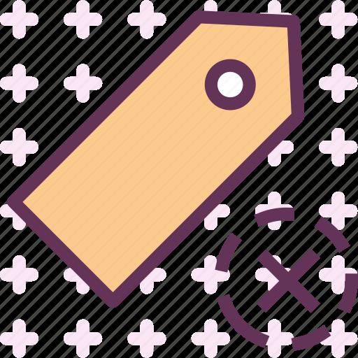 extension, file, folder, tag, tagcancel icon