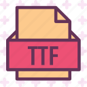 extension, file, folder, tag, ttf icon