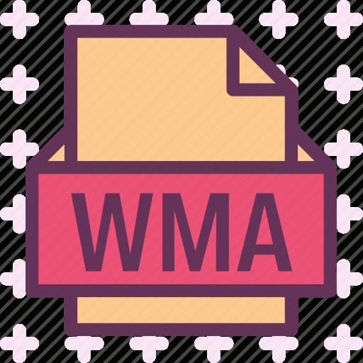 extension, file, folder, tag, wma icon