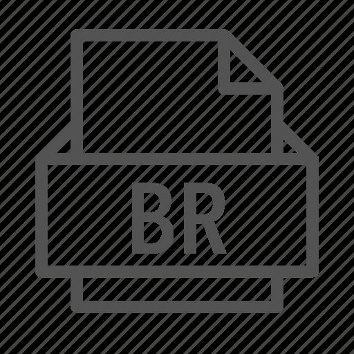br, bridge, extension, file, omnis, studio icon