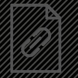 attachment, computer, file, pc, pin icon
