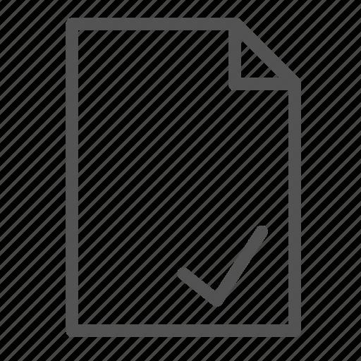 approve, computer, file, ok, pc, sign icon
