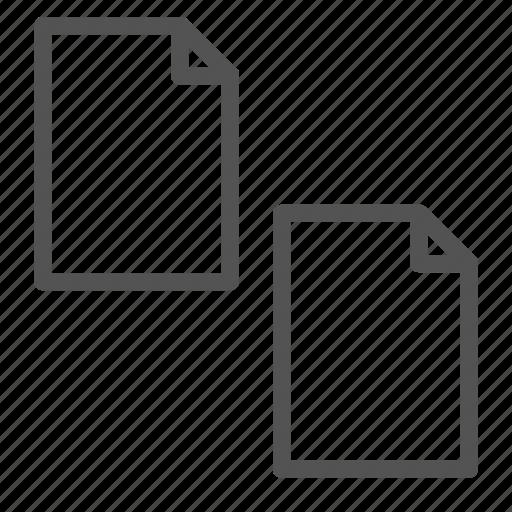computer, copy, files, mac, pc icon