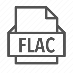 audio, extension, file, flac, music icon