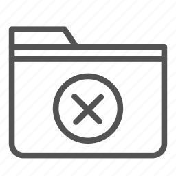 cancel, computer, folder, multiply, pc, sign icon