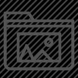 computer, folder, pc, photo, picture icon
