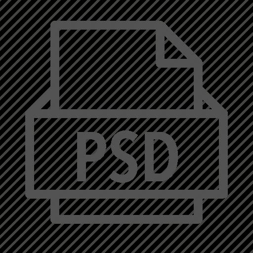 adobe, computer, extension, file, pc, photoshop, psd icon