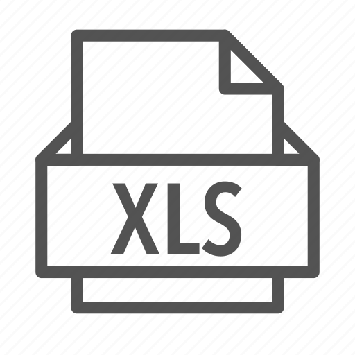 excel, extension, file, microsoft, xls icon