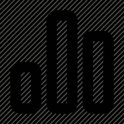 bar chart, bar graph icon