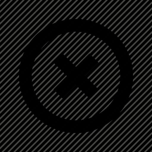 circle, cross, delete icon