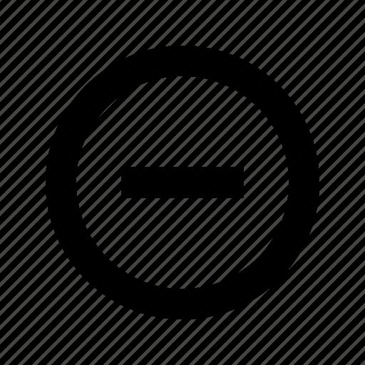 circle, minus, remove icon