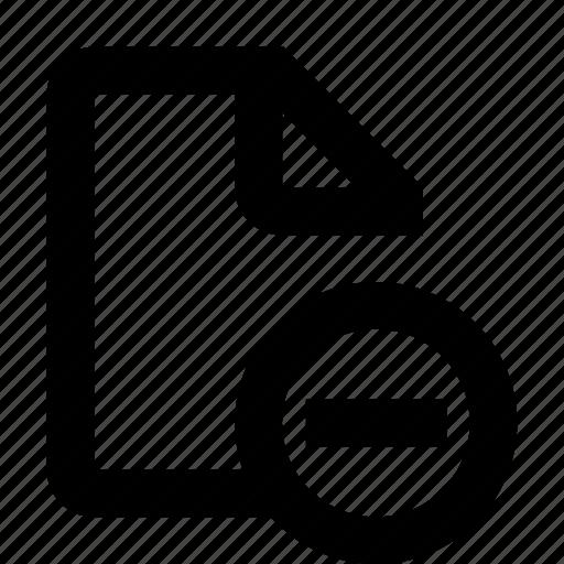 document, minus icon