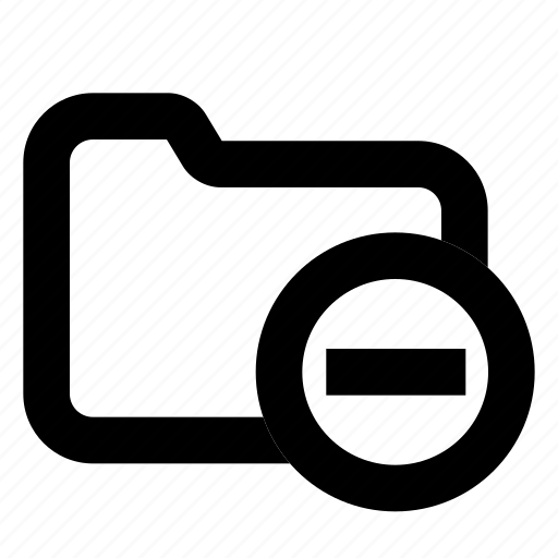 directory, folder, minus icon