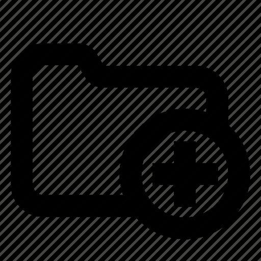 directory, folder, plus icon