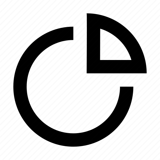 pie chart, pie graph icon