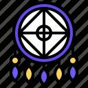 dreamcatcher, cultures, adornment, feather, decoration icon