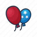 ballon, air, party, independence day, celebration, holiday
