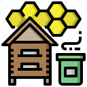 apiary, beekeeper, farming, gardening, jobs, professions icon