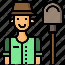 farmer, farming, feminine, gardening, hat, user icon