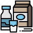 drink, food, milk, milkshake, restaurant, set icon