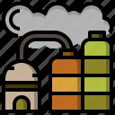 estate, farming, gardening, industry, real, silo icon