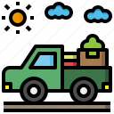 delivery, pick, pickup, shipping, truck, up icon