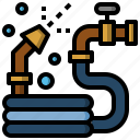 construction, furniture, household, pipe, tools, water icon