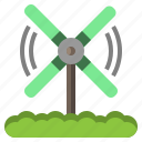 country, farming, gardening, hills, rural, windmill icon