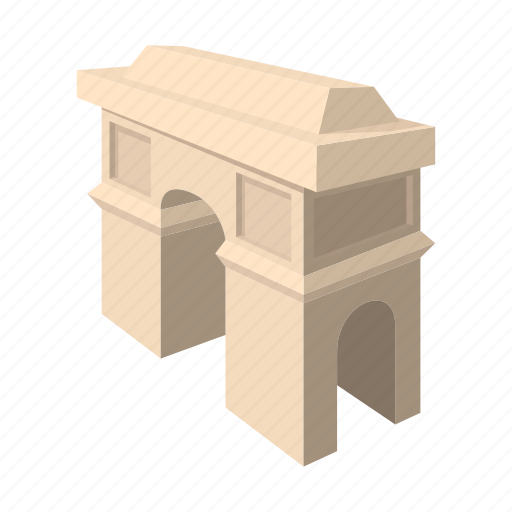arch, cartoon, france, monument, paris, street, travel icon