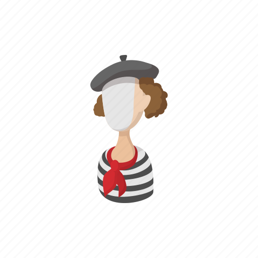 cartoon, comedian, hat, male, man, mime, pose icon