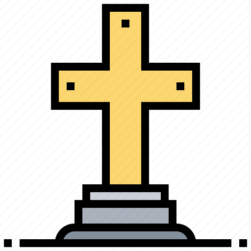 catacomb, cemetery, christian, cross, graveyard icon