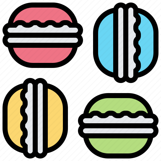 food, french, macaron, pastry, sweets icon