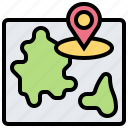 journey, location, map, pin, travel icon