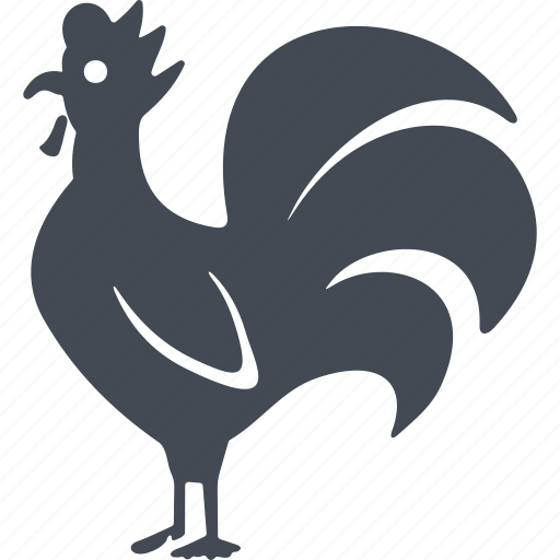 bird, cock, feathers, france icon