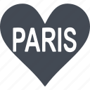 country, france, heart, paris icon