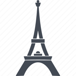 building, eiffel tower, france, tower icon
