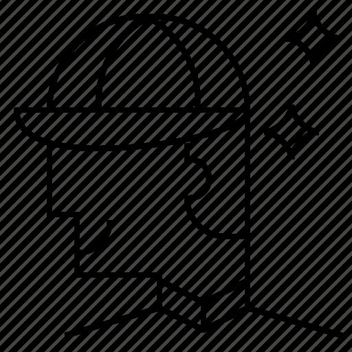 avatar, cap, employee, man, smart icon