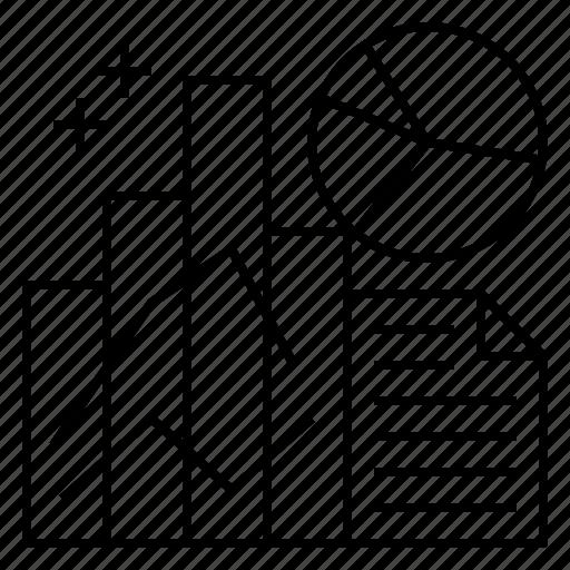 analysis, data, market, research icon