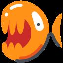 adanger, emoji, fish, freak, piranha