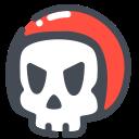 emoji, freak, helmet, racer, skull