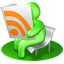 http://cdn1.iconfinder.com/data/icons/free-3d-social-icons/png/64x64/Green%20RSS%20reader.png