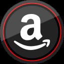 amazon, logo, media, social icon