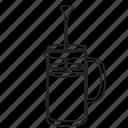 coffee, dripper, filter, hot