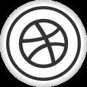 dribbble, logo, media, online, social