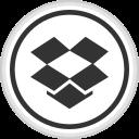 dropbox, logo, media, online, social