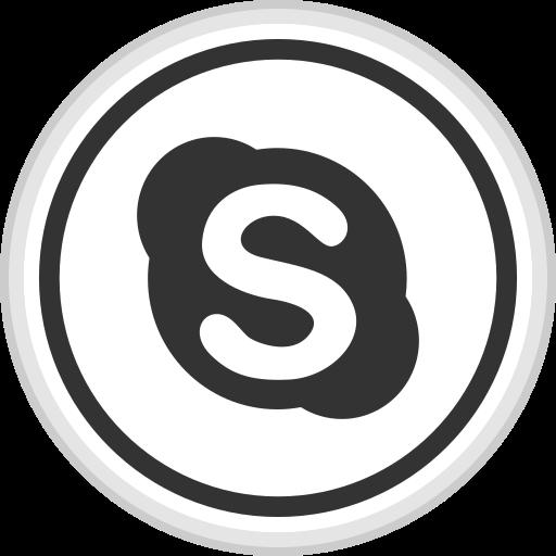 logo, media, online, skype, social icon